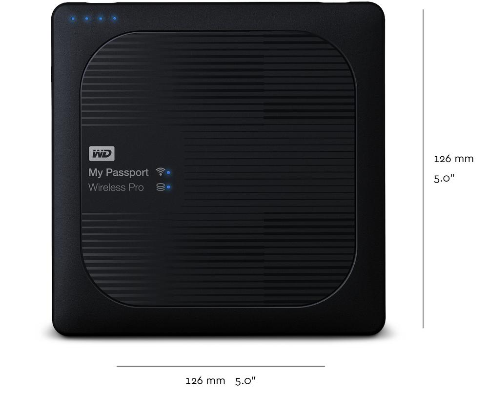 MyPassportWirelessPro Dimensions by WD Website